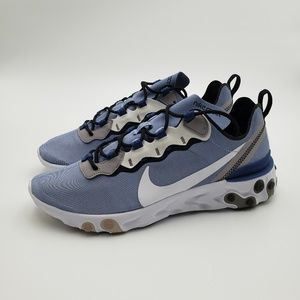 Nike React Element 55 Indigo Fog White Mystic Navy